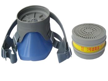 重庆防毒口罩--单缸防毒气的口罩
