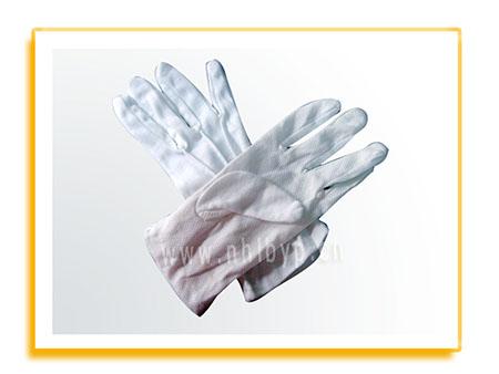 劳保手套-点胶白汗布手套