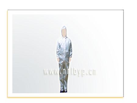 防尘防静电封闭式连体工作服(白色)