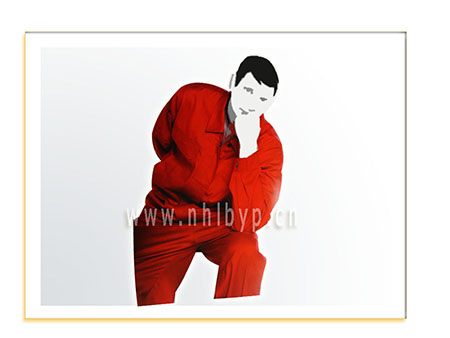 NH款0723纯棉沙卡工装(大红)