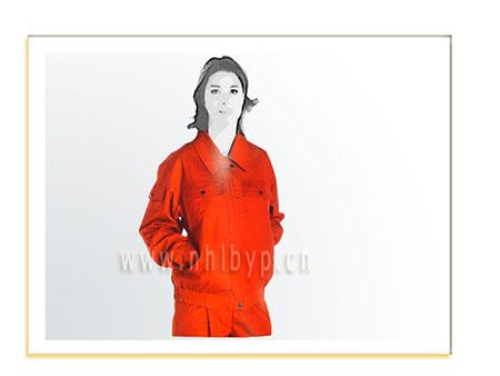 NH0315厚帆布双层套装(大红)职业装-工装-工服-订做工作服