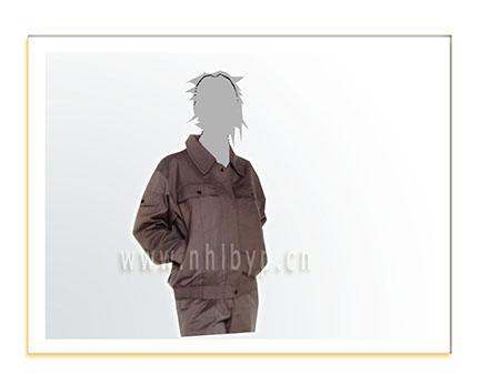 NH0315厚帆布双层套装(驼灰)职业装-工装-工服-订做工作服