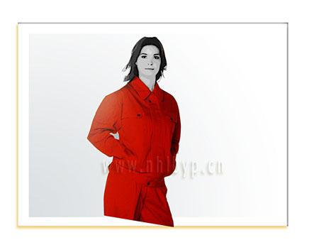 NH0604款纯棉加厚单层(桔红色)职业装-工装-工服