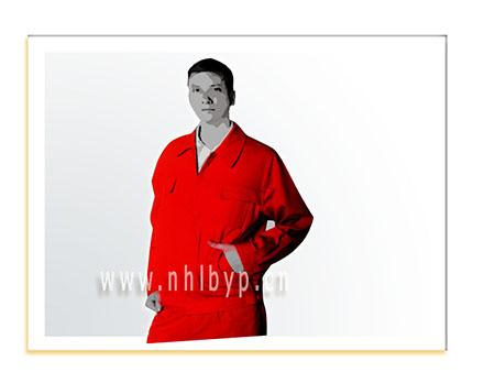 NH0704款纯棉厚帆布单项奖层夹克(大红)