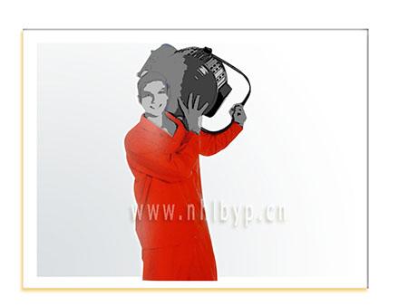 NH0708款细帆布工装(桔红色)职业装-工装-工服-订做工作服